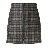 Ultràchic checked zip front skirt - ブラウン