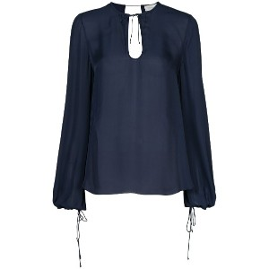 Rebecca Vallance Lilly long-sleeve blouse - ブルー