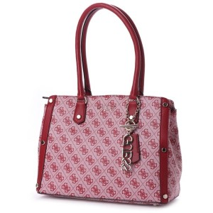 ゲス GUESS FLORENCE MEDIUM SATCHEL (RED) レディース