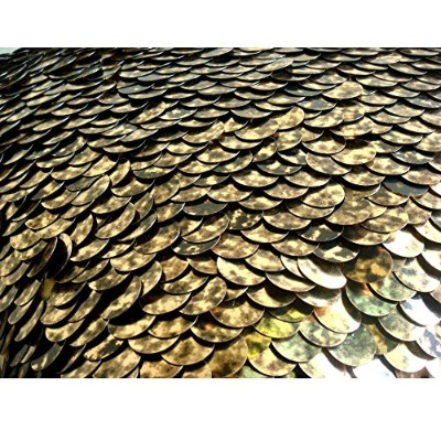 (46cm x 46cm) - Exotic Gold N Black Scales - Throw Pillow Covers - Silk Pillow Cover with Shaded...