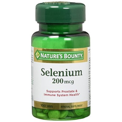 海外直送品Natural Selenium, 200 mcg, 100 Tablets by Nature's Bounty