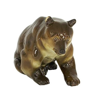 ブラウンBear Big & Real Lomonosov磁器Collectible Figurine