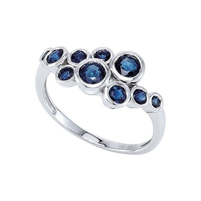 Beautiful White gold 14K White-gold Genuine Blue Sapphire Ring comes with a Free Jewelry Gift