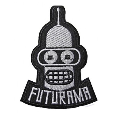 FUTURAMA - TV Show BENDER Embroidered PatchApprox: 3.9/10cm x Approx: 2.5/6.5cm By MNC Shop by MNC...