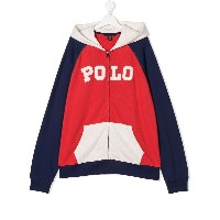 Ralph Lauren Kids TEEN full-zipped hoodie - レッド