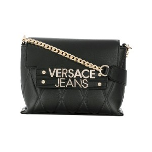 Versace Jeans quilted crossbody - ブラック