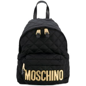 Moschino medium quilted backpack - ブラック