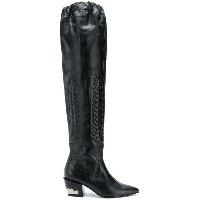 Toga Pulla pointed knee-length boots - ブラック