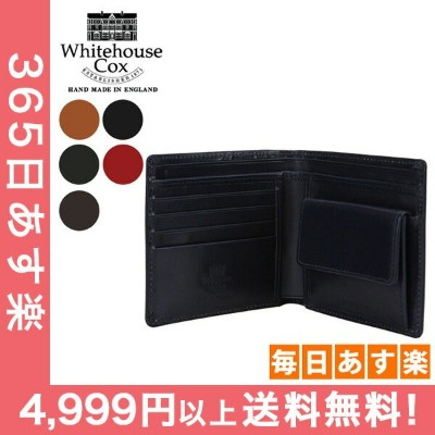 Whitehouse Cox ホワイトハウスコックス Wallet Coin Purse CLOSE 10cm × 11cm OPEN 10cm × 22.5cm S7532 財布 ...