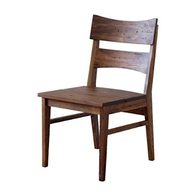 ISSEIKI DINING CHAIR ダイニングチェア ブラウン色 幅48 ダメージ加工 木製家具 ZEPH DINING CHAIR (MBR)