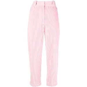 Cédric Charlier cropped corduroy trousers - ピンク