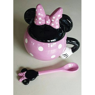 Disney MinnieマウスCeramic Mug with Spoon