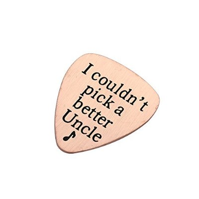 Uncle guitar pick音楽ギフトペンダントできなかったPick A Better Uncleステンレススチール