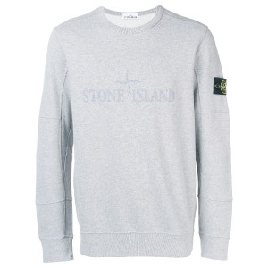 Stone Island logo patch sweatshirt - グレー