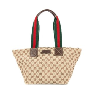 GUCCI PRE-OWNED GG シェリーライントートバッグ - ブラウン