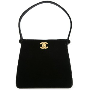 CHANEL PRE-OWNED ロゴ ハンドバッグ - ブラック