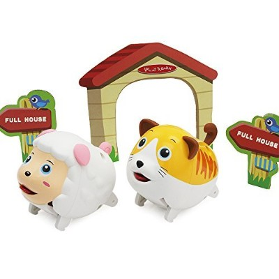 Pigおもちゃ犬おもちゃSheepおもちゃCat Toys – iPlay、iLearn Animal Toys Toy Animals That Walkおもちゃ動物Figures...