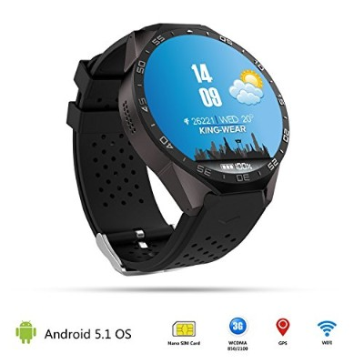 3G WIFI Healthy Smart Watch Android OS Phone Watch with Camera 1.39 inch Smartwatch Pedometer Heart...