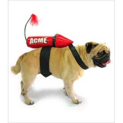 Acme Rocket Dog Costume - Large 12 1/2 long (16-21girth) by Puppe Love