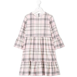 Il Gufo flared design dress - ピンク&パープル