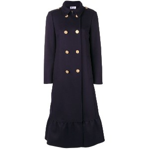 Red Valentino double-breasted flared coat - ブルー