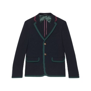 Gucci Cambridge textured jersey jacket - ブルー