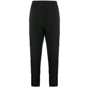 Ann Demeulemeester cropped tailored trousers - ブラック
