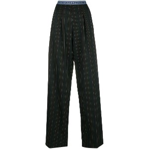 Marco De Vincenzo 'Ultrapharum' pinstripe trousers - ブラック