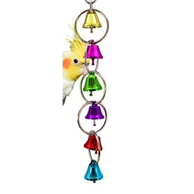 Bonka Bird Toys 1106 Medium Ringer Bird Toy parrot cage craft toys cages cockatiel conure caique by...