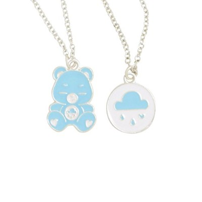 Love and Madness Care Bear Grumpy Bear Double Layerネックレス – コスチュームジュエリー