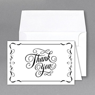 Superfine Printing Thank You Greeting Cards and Envelopes - 25 Per Pack, 4 x 6 Inches by Superfine...