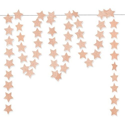 "GlitterゴールドTwinkle Star Hanging Garland – Sparkly用紙five-pointedホオジロバナー文字列for Kids寝室装飾誕生日背景、2.8、"" Totally 23 ft / 7 m 2.8"" (7cm) 6933944938204"