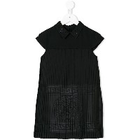 Young Versace empire line pleated dress - ブラック