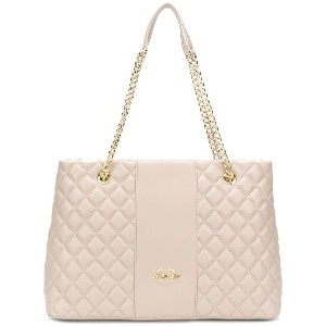 Love Moschino quilted tote bag - ヌード&ナチュラル