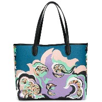 Emilio Pucci printed oversized tote - ピンク&パープル