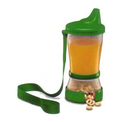 Mommysヘルパーsip-n-snak non-spill Cup、スナックコンテナ, Colors May Vary 1 Count グリーン 52226