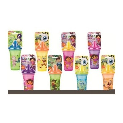 Nuby 782174 9 oz No-Spill Nickelodeon Sipper Cup, Case of 24