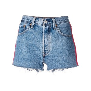 Levi's side bands denim shorts - ブルー