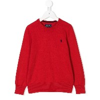 Ralph Lauren Kids crew neck jumper - レッド