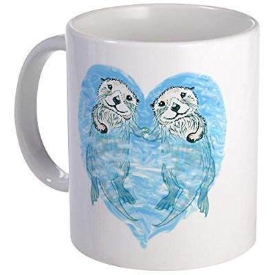 CafePress – Sea Otters Holding Hands – Uniqueコーヒーマグカップ、コーヒーカップ S 0163765703FF0CA
