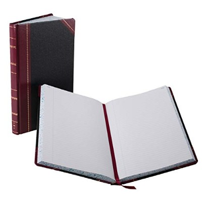 Record/Account Book, Black/Red Cover, 300 Pages, 14 1/8 x 8 5/8 (並行輸入品)