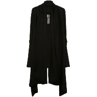 Rick Owens open front trapeze cardigan - ブラック