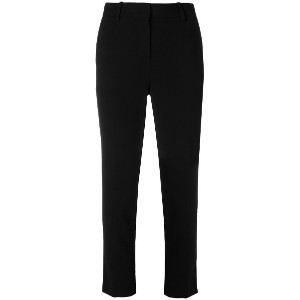 Theory cropped slim-fit trousers - ブラック