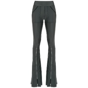 Andrea Bogosian flared trousers - グリーン