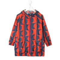 Bobo Choses patterned hooded coat - レッド