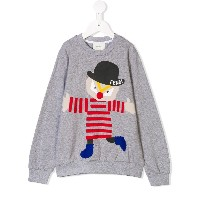 Fendi Kids printed sweatshirt - グレー