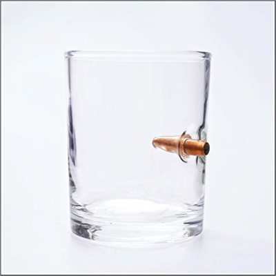 7.62mm AKMの使用 スチールコア 弾丸ショットグラスは手吹【Luck Cup Whiskey Glass】