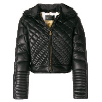 Versace zipped quilted jacket - ブラック