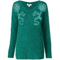 Kenzo embroidered sweater - グリーン