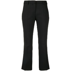 Semicouture cropped tailored trousers - ブラック